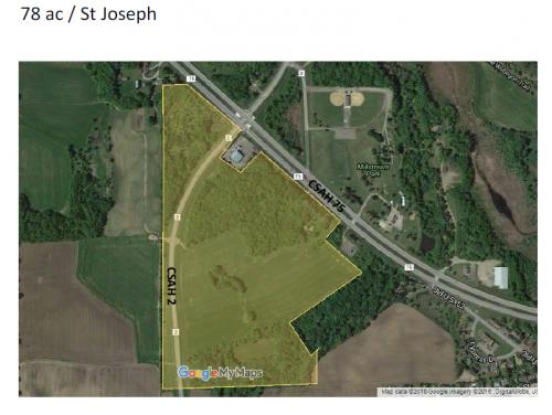 St Joseph Development Land / 78 acres